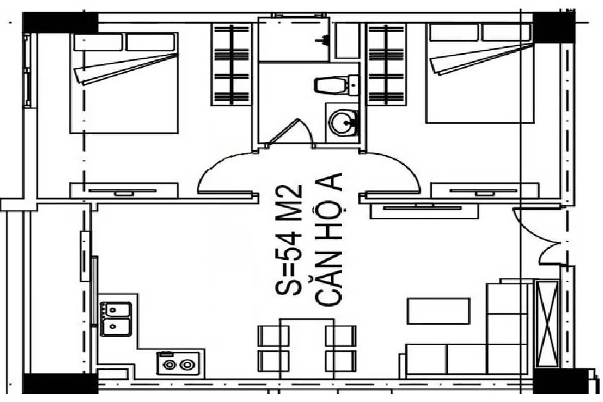 mặt-bằng-căn-54m2-nhà-ở-xã-hội-udic-eco-tower