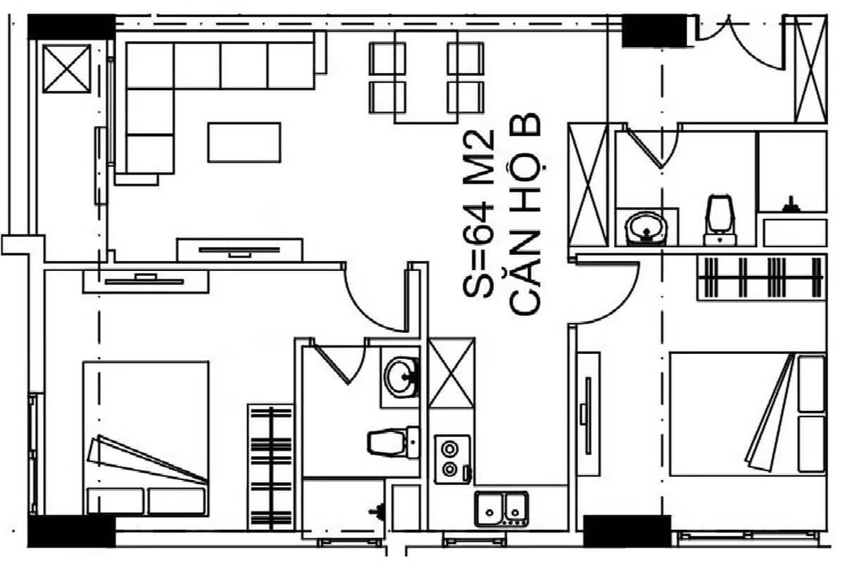 mặt-bằng-căn-64m2-nhà-ở-xã-hội-udic-eco-tower